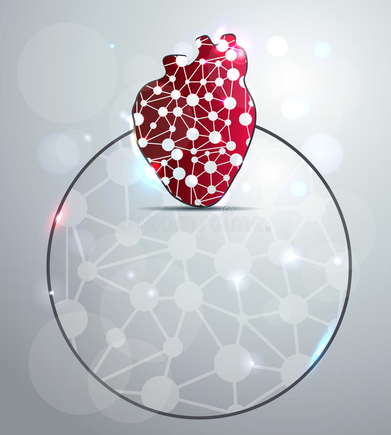 Αφηρημένη κόκκινη μορφή καρδιών διανυσματική απεικόνιση