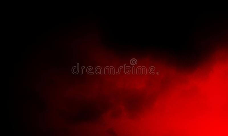 Αφηρημένη κόκκινη ομίχλη υδρονέφωσης καπνού σε ένα μαύρο υπόβαθρο στοκ φωτογραφία με δικαίωμα ελεύθερης χρήσης