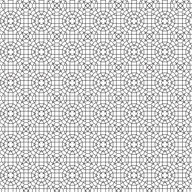 Αφηρημένη κύκλων γεωμετρική διακοσμήσεων κύβων απεικόνιση υποβάθρου σχεδίων γραμμών διανυσματική άνευ ραφής διανυσματική απεικόνιση
