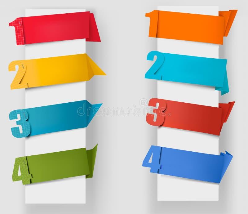 Αφηρημένη λεκτική φυσαλίδα origami με τους αριθμούς διανυσματική απεικόνιση