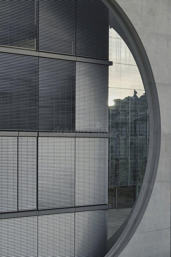 Αφηρημένη λεπτομέρεια του Paul-Loebe Haus, Βερολίνο στοκ εικόνες με δικαίωμα ελεύθερης χρήσης