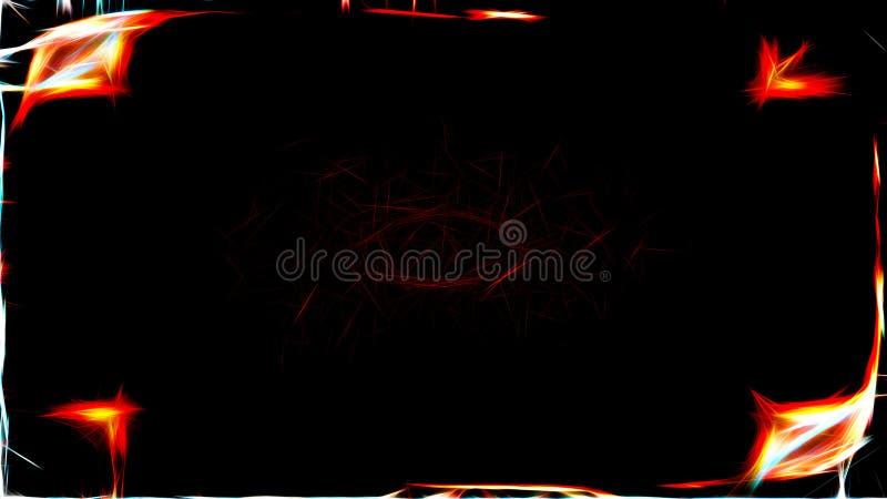 Αφηρημένη μαύρη Fractal ελαφριά εικόνα υποβάθρου γραμμών διανυσματική απεικόνιση
