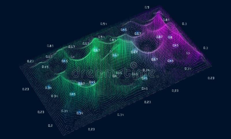 Αφηρημένη μεγάλη έννοια στοιχείων Φουτουριστική πολυπλοκότητα σχεδίου infographics Κοινωνικό analytics πληροφοριών δικτύων ή επιχ απεικόνιση αποθεμάτων