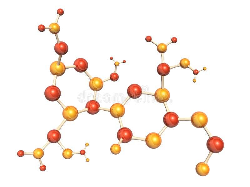 αφηρημένη μοριακή δομή διανυσματική απεικόνιση