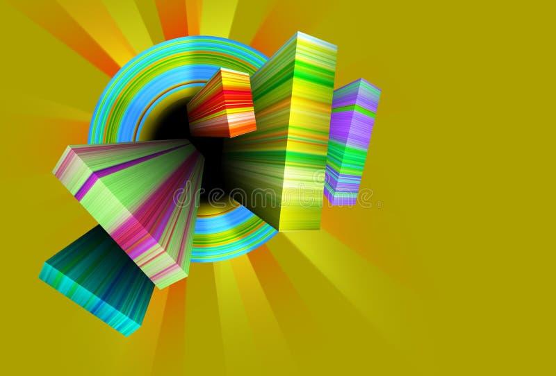 Αφηρημένη μορφή διανυσματική απεικόνιση
