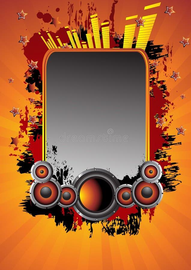 αφηρημένη μουσική ανασκόπη&s απεικόνιση αποθεμάτων