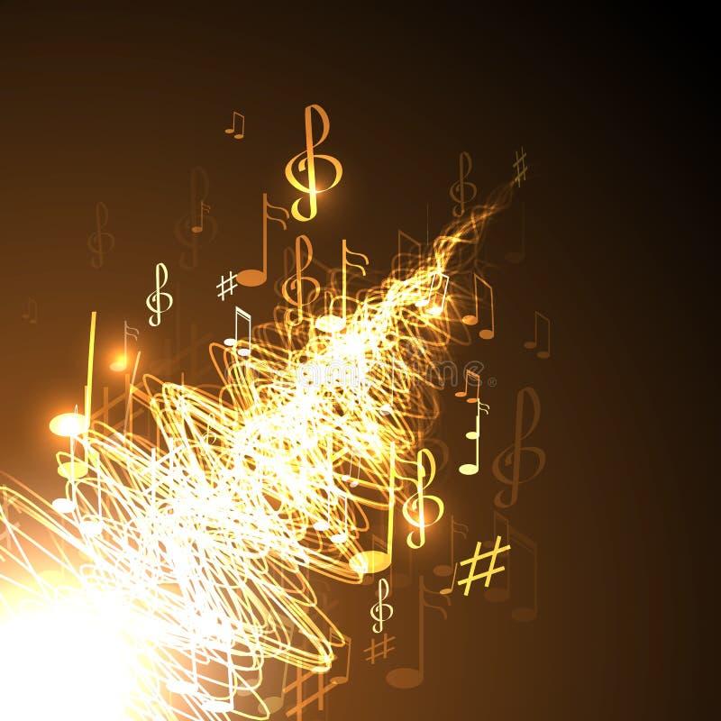 αφηρημένη μουσική ανασκόπη&s διανυσματική απεικόνιση