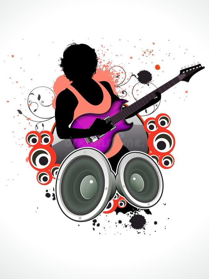 αφηρημένη μουσική ατόμων κι&t διανυσματική απεικόνιση