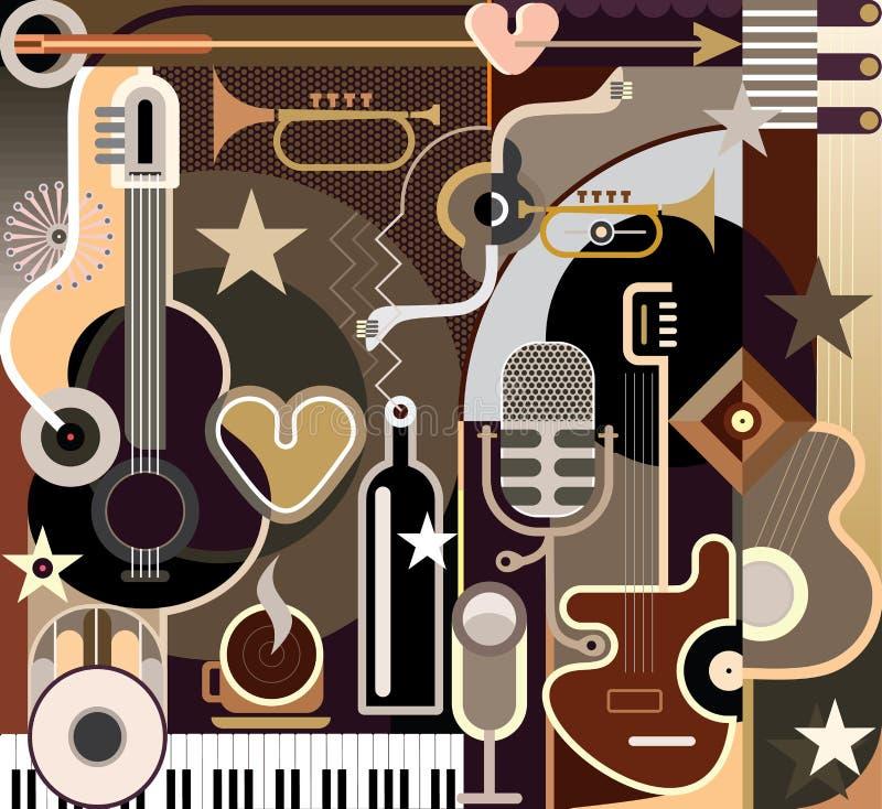 Αφηρημένη μουσική - διανυσματική απεικόνιση διανυσματική απεικόνιση