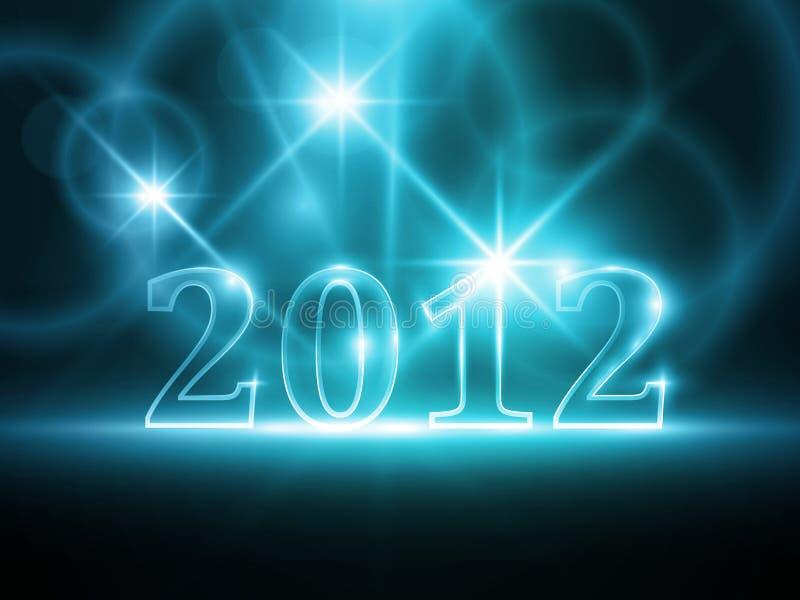 Αφηρημένη μπλε ανασκόπηση έτους 2012 απεικόνιση αποθεμάτων