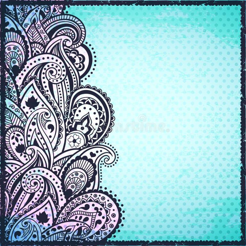 Αφηρημένη μπλε ανασκόπηση του Paisley διανυσματική απεικόνιση