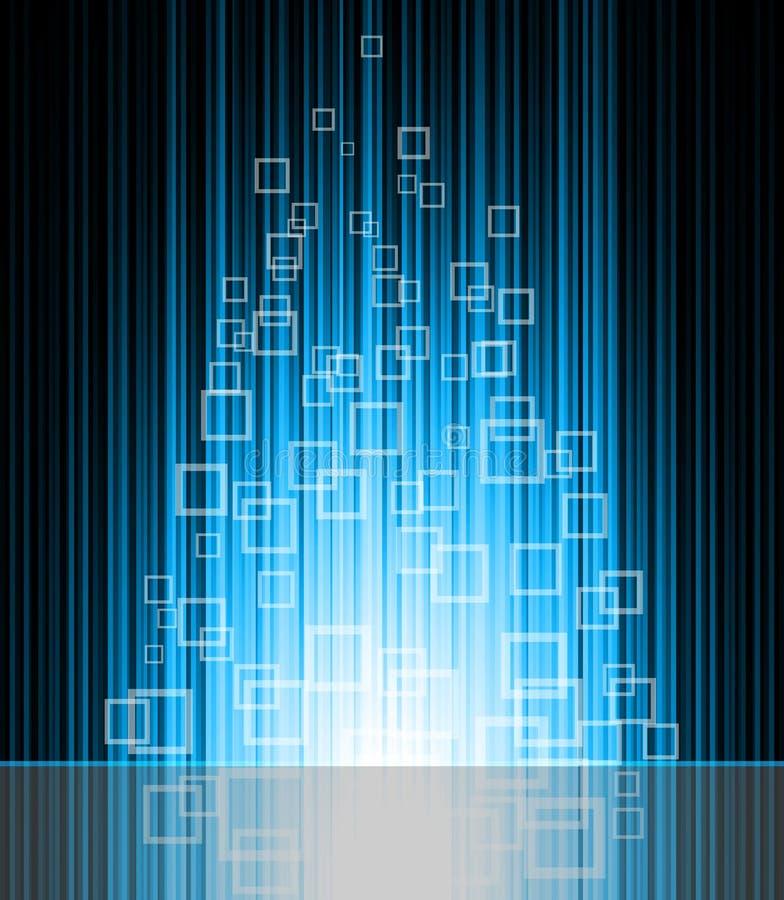 Download Αφηρημένη μπλε ανασκόπηση διανυσματική απεικόνιση. εικονογραφία από σχέδιο - 22784995