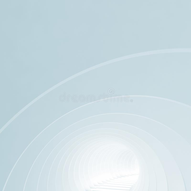 Αφηρημένη μπλε ελάχιστη αρχιτεκτονική τρισδιάστατη απεικόνιση αποθεμάτων