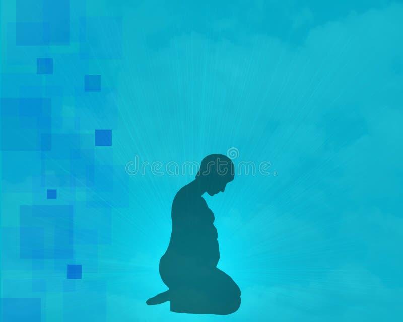 Αφηρημένη μπλε κάλυψη λευκωμάτων διανυσματική απεικόνιση