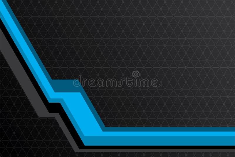 Αφηρημένη μπλε και μαύρη διανυσματική απεικόνιση υποβάθρου γραμμών διανυσματική απεικόνιση