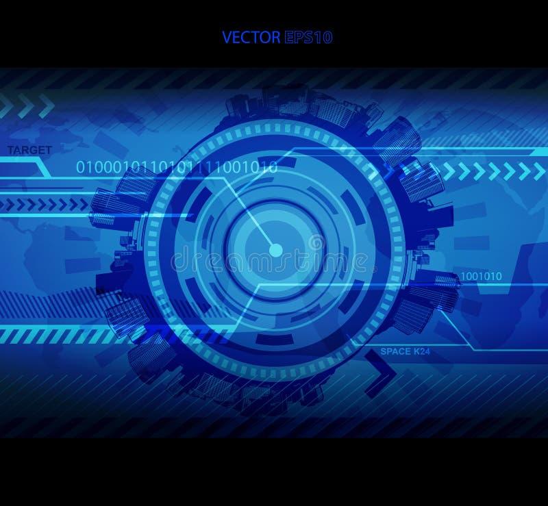 Αφηρημένη μπλε απεικόνιση τεχνολογίας με τη θέση για το κείμενό σας ελεύθερη απεικόνιση δικαιώματος