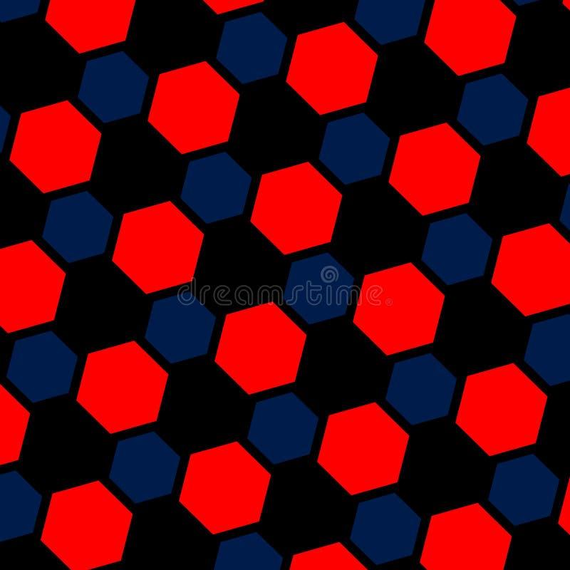 Αφηρημένη μπλε κόκκινη hexagon απεικόνιση μακρο καρύδι φουντουκιών λεπτοκάρυων ανασκόπησης Ιστοσελίδας σχεδίων Σχέδιο τέχνης παρα διανυσματική απεικόνιση