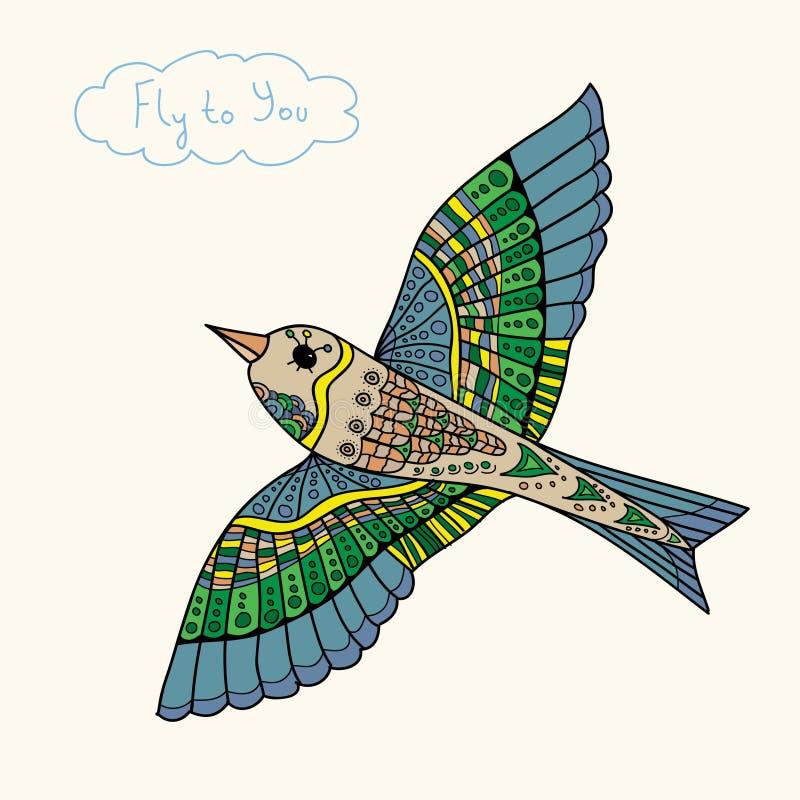 Αφηρημένη μύγα πουλιών στο χρώμα στοκ φωτογραφία με δικαίωμα ελεύθερης χρήσης