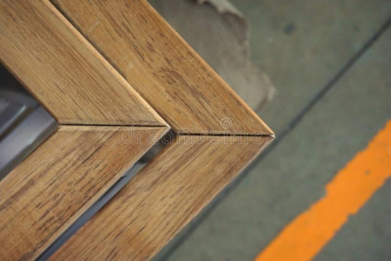 Αφηρημένη ξύλινη γωνία στοκ φωτογραφία