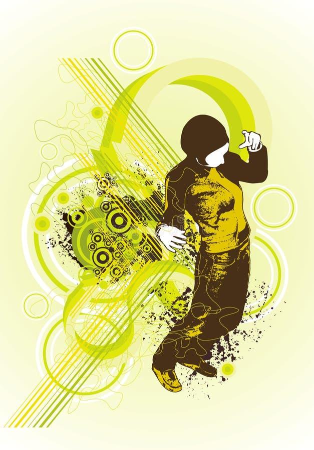 αφηρημένη πίσω χορεύοντας &gamm απεικόνιση αποθεμάτων