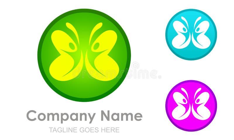 Αφηρημένη πεταλούδα και εργασία ή ζεύγος ομάδων ελεύθερη απεικόνιση δικαιώματος