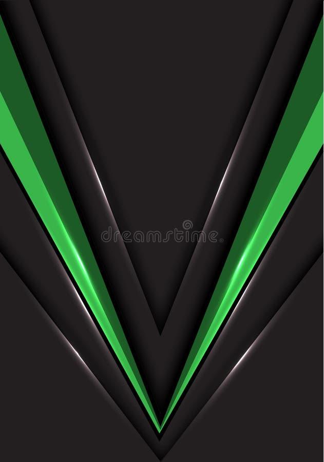 Αφηρημένη πράσινη κατεύθυνση ταχύτητας βελών στο γκρίζο κενό διαστημικό διάνυσμα υποβάθρου σχεδίου σύγχρονο φουτουριστικό απεικόνιση αποθεμάτων