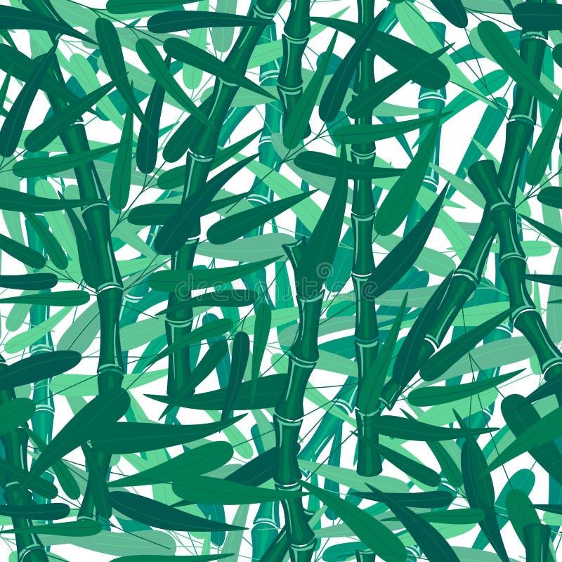 Αφηρημένη πράσινη σύσταση σχεδίων μπαμπού δασική άνευ ραφής ελεύθερη απεικόνιση δικαιώματος