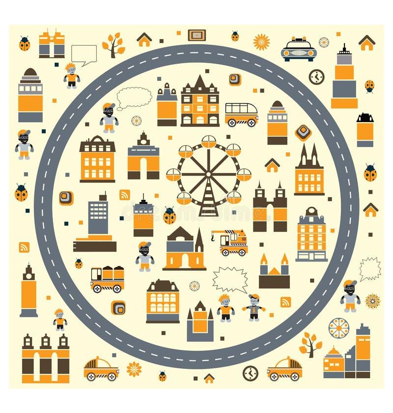 αφηρημένη πόλη απεικόνιση αποθεμάτων