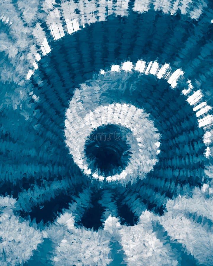 Αφηρημένη σπείρα στο μπλε Ψηφιακή τέχνη από Afonso Farias απεικόνιση αποθεμάτων