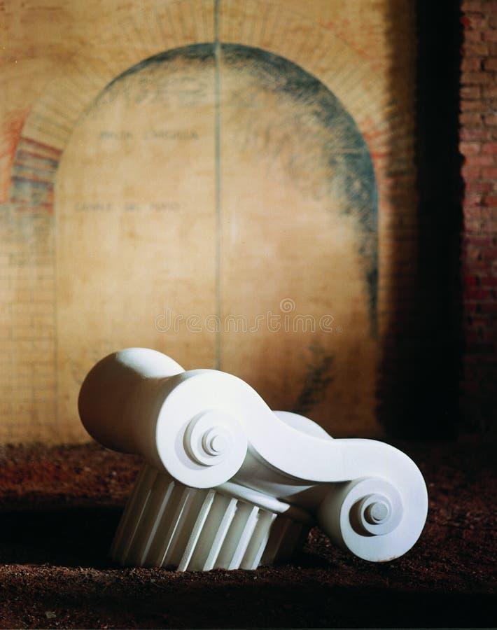 αφηρημένη στήλη ελληνικά στοκ φωτογραφία