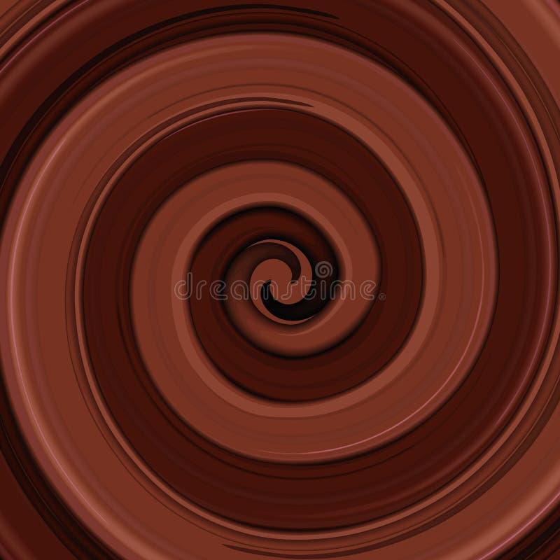 Αφηρημένη στιλπνή ανασκόπηση στροβίλου σοκολάτας διανυσματική απεικόνιση