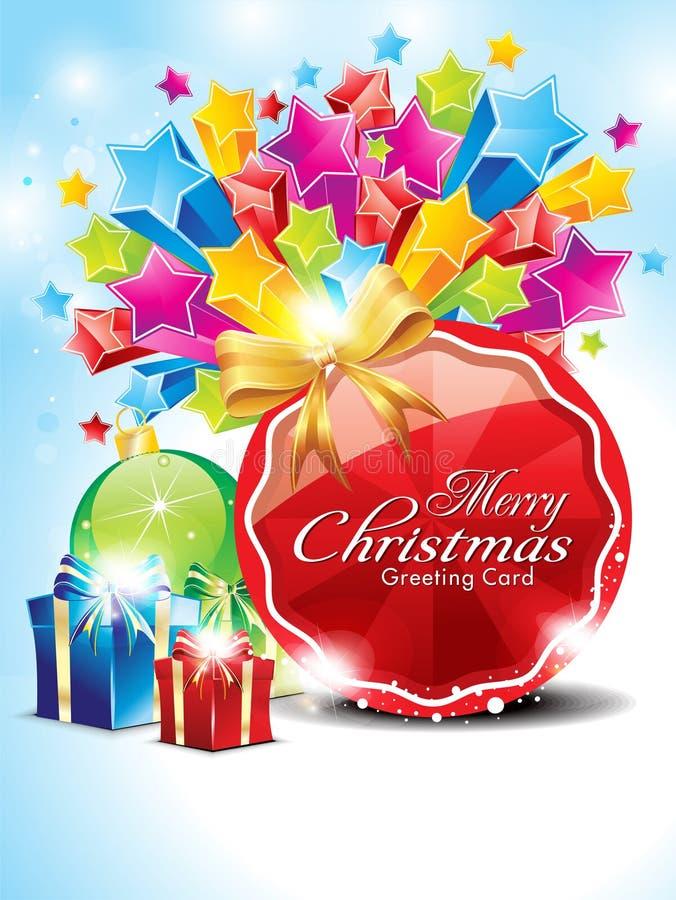 Αφηρημένη στιλπνή ανασκόπηση Χριστουγέννων με τα αστέρια απεικόνιση αποθεμάτων