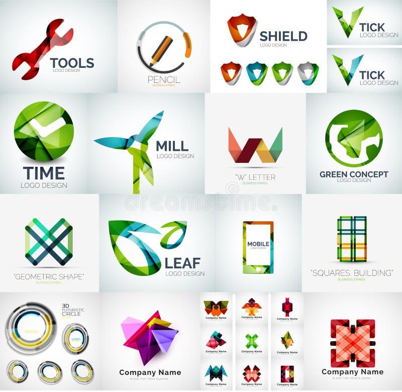 Αφηρημένη συλλογή λογότυπων επιχείρησης ελεύθερη απεικόνιση δικαιώματος
