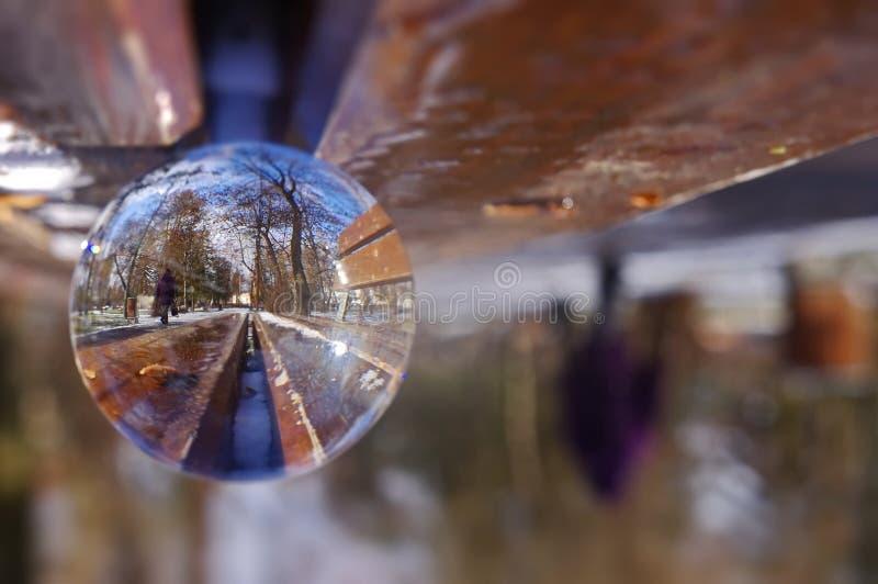 Αφηρημένη σφαίρα γυαλιού σφαιρών στοκ εικόνα