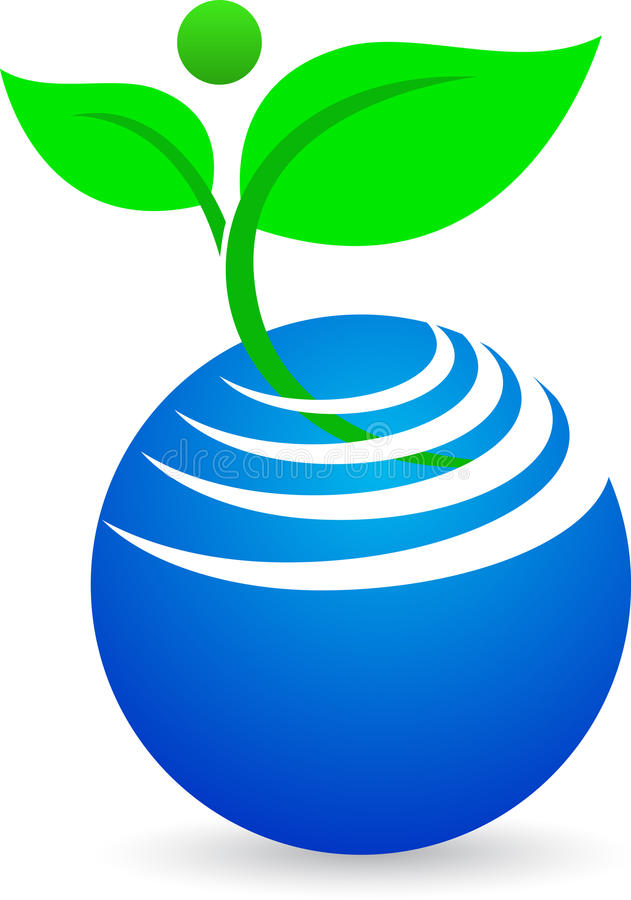 Αφηρημένη σφαίρα με το φυτό ελεύθερη απεικόνιση δικαιώματος