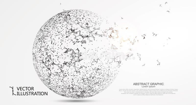 Αφηρημένη σφαίρα, σύνδεση στο Διαδίκτυο απεικόνιση αποθεμάτων