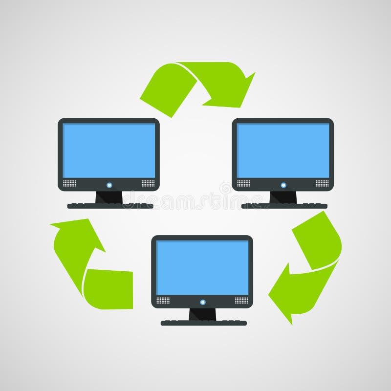 Αφηρημένη σύγχρονη σύνδεση υπολογιστών διανυσματική απεικόνιση