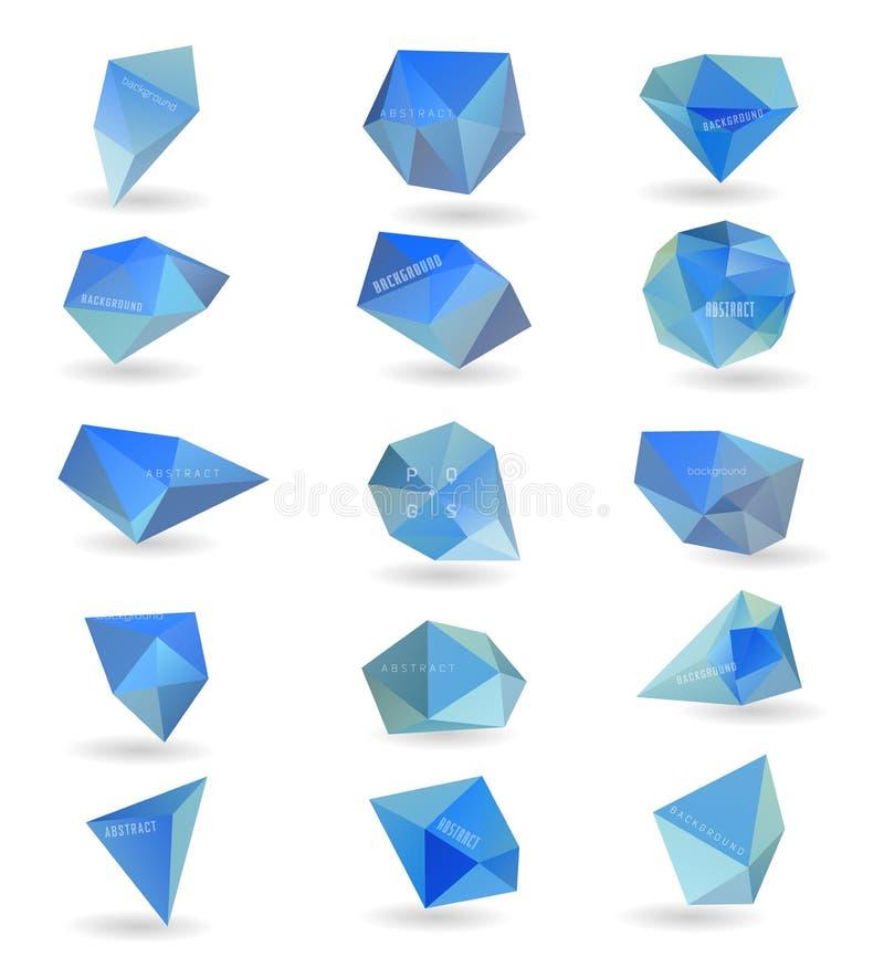 Αφηρημένη σύγχρονη polygonal φυσαλίδα, ιστοχώρος ετικετών ελεύθερη απεικόνιση δικαιώματος