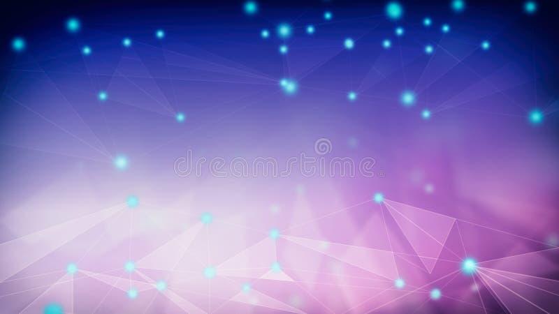 Αφηρημένη σύνδεση δικτύων backround, γεωμετρική μορφή απεικόνιση αποθεμάτων