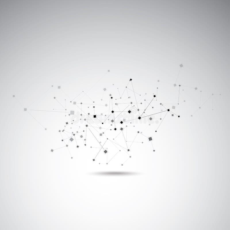 Αφηρημένη σύνδεση μορίων διανυσματική απεικόνιση