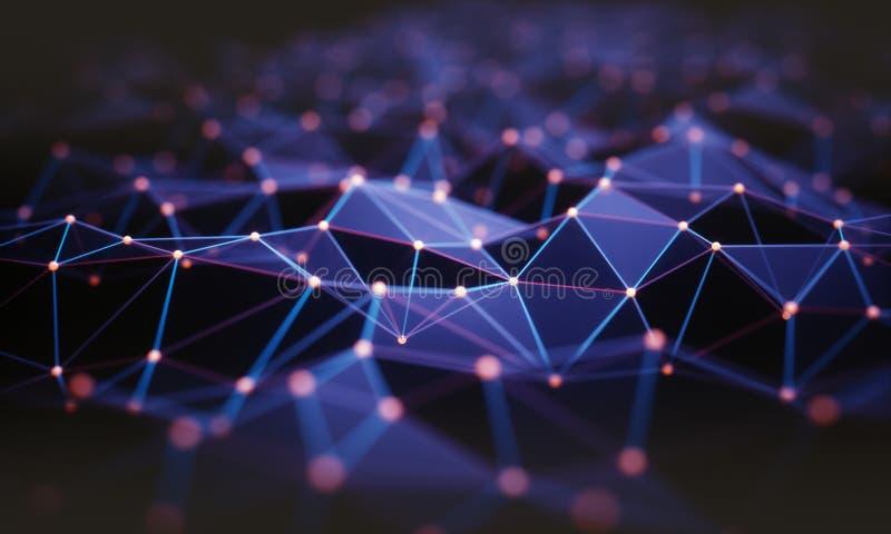 Αφηρημένη σύνδεση τεχνολογίας υποβάθρου ελεύθερη απεικόνιση δικαιώματος
