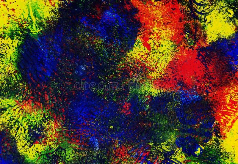 Αφηρημένη σύσταση η ζωηρόχρωμη βούρτσα χρωμάτων απεικόνισης σχεδίου τέχνης υποβάθρου σημείων ελεύθερη απεικόνιση δικαιώματος