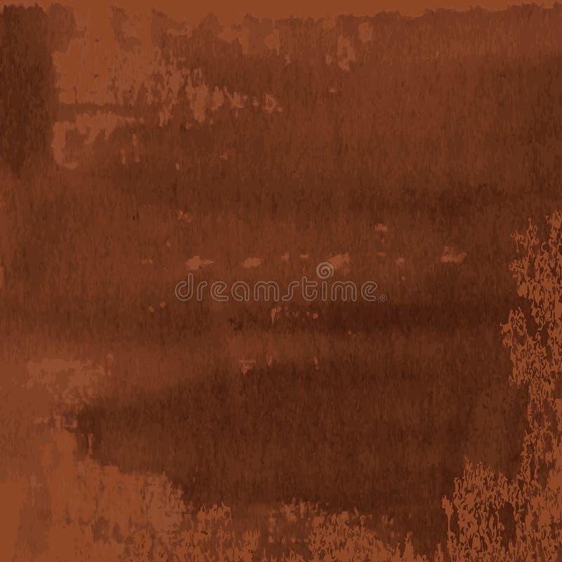 Αφηρημένη σύσταση του σκοτεινού καφετιού οξυδωμένου μετάλλου ελεύθερη απεικόνιση δικαιώματος