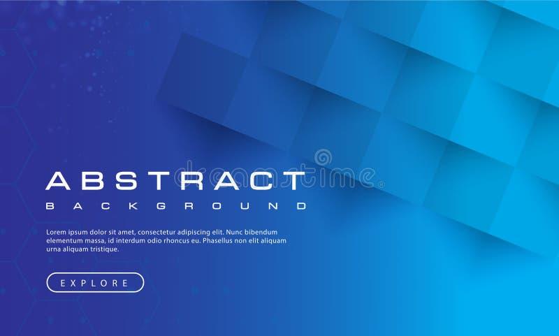 Αφηρημένη σύσταση υποβάθρου μπλε ουρανού, μπλε κατασκευασμένος, υπόβαθρα εμβλημάτων, διανυσματική απεικόνιση ελεύθερη απεικόνιση δικαιώματος