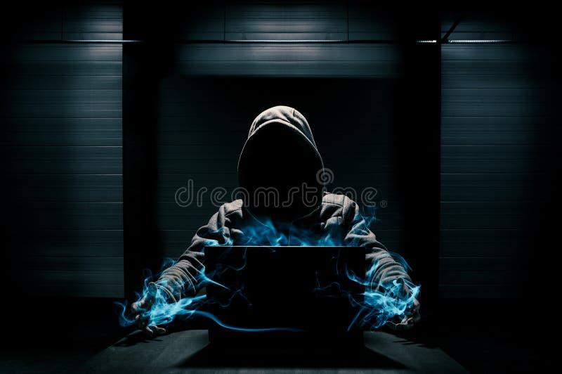 Αφηρημένη σύλληψη του χάκερ στοκ εικόνες