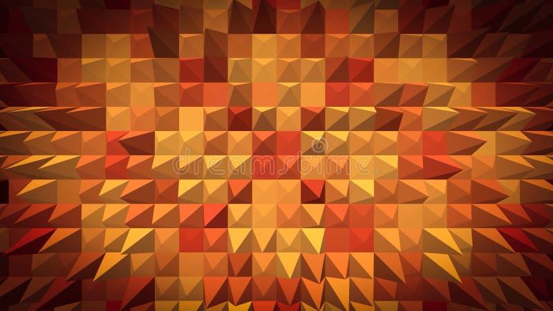 Αφηρημένη ταπετσαρία σχεδίων πυραμίδων στοκ εικόνες