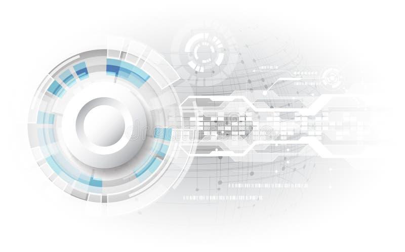 Αφηρημένη τεχνολογική έννοια υποβάθρου με τα διάφορα στοιχεία τεχνολογίας διάνυσμα απεικόνισης διανυσματική απεικόνιση