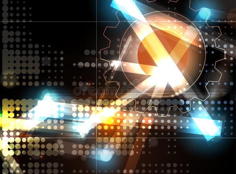 αφηρημένη τεχνολογία ανα&sigm Φουτουριστική διεπαφή τεχνολογίας διάνυσμα απεικόνιση αποθεμάτων