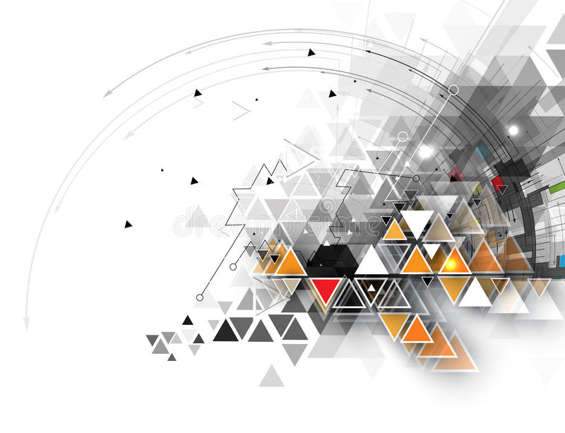 αφηρημένη τεχνολογία ανα&sigm Φουτουριστική διεπαφή τεχνολογίας διανυσματική απεικόνιση