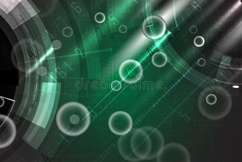 αφηρημένη τεχνολογία ανα&sigm Φουτουριστική διεπαφή τεχνολογίας απεικόνιση αποθεμάτων